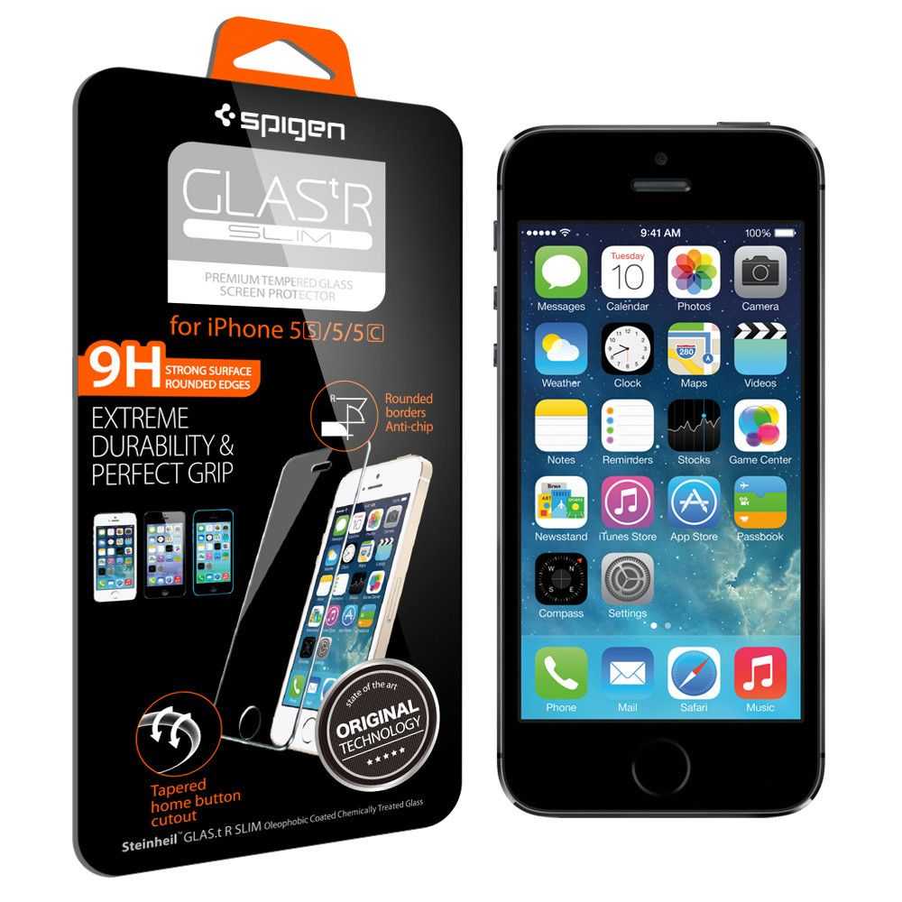 Spigen Tempered Glass iPhone SE/5S/5 GLAS.tR SLIM - 2 TXM (SGP10111)
