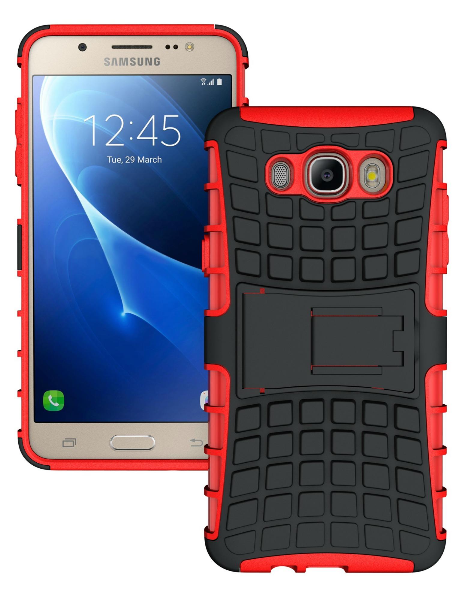 Ανθεκτική Θήκη Samsung Galaxy J7 (2016) (8484) - Κόκκινο - OEM