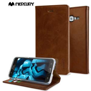 Mercury Θήκη Samsung Galaxy J5 (2015) - Πορτοφόλι Καφέ(56489)