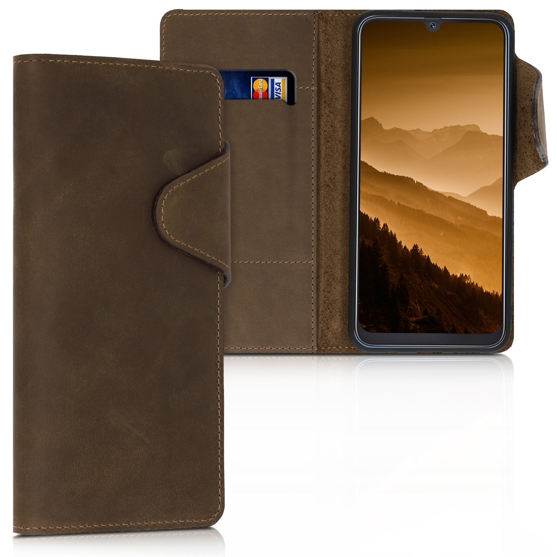 Kalibri Δερμάτινη Suede Θήκη Πορτοφόλι Samsung Galaxy A50 - Brown (48059.05)