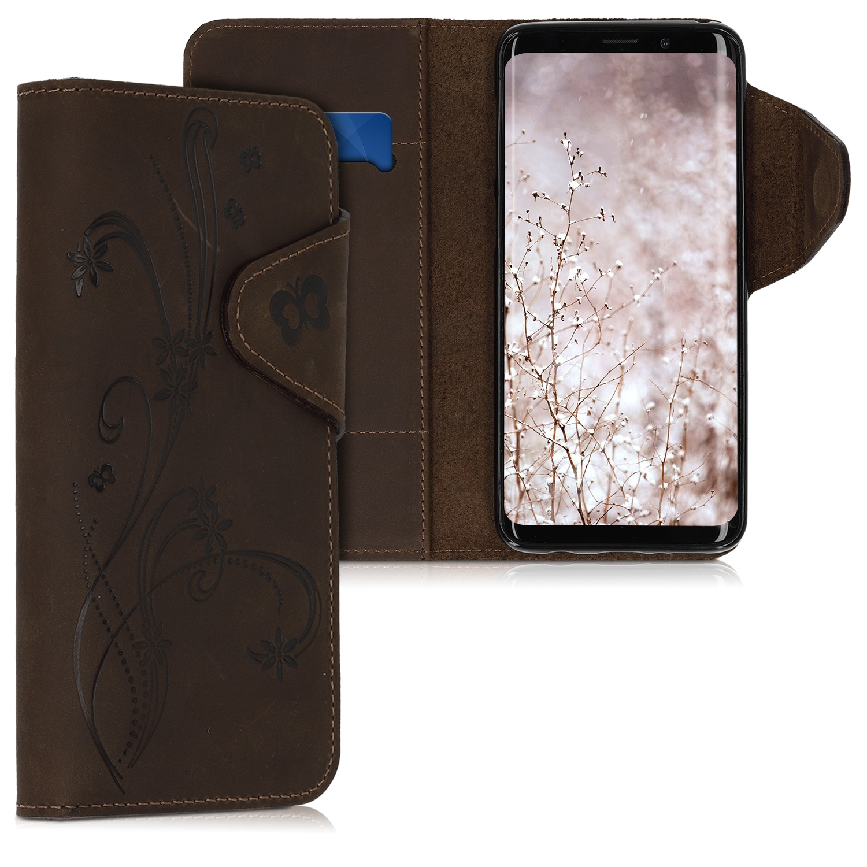 Kalibri Δερμάτινη Suede Θήκη Πορτοφόλι Samsung Galaxy S9 - Brown (45816.03)