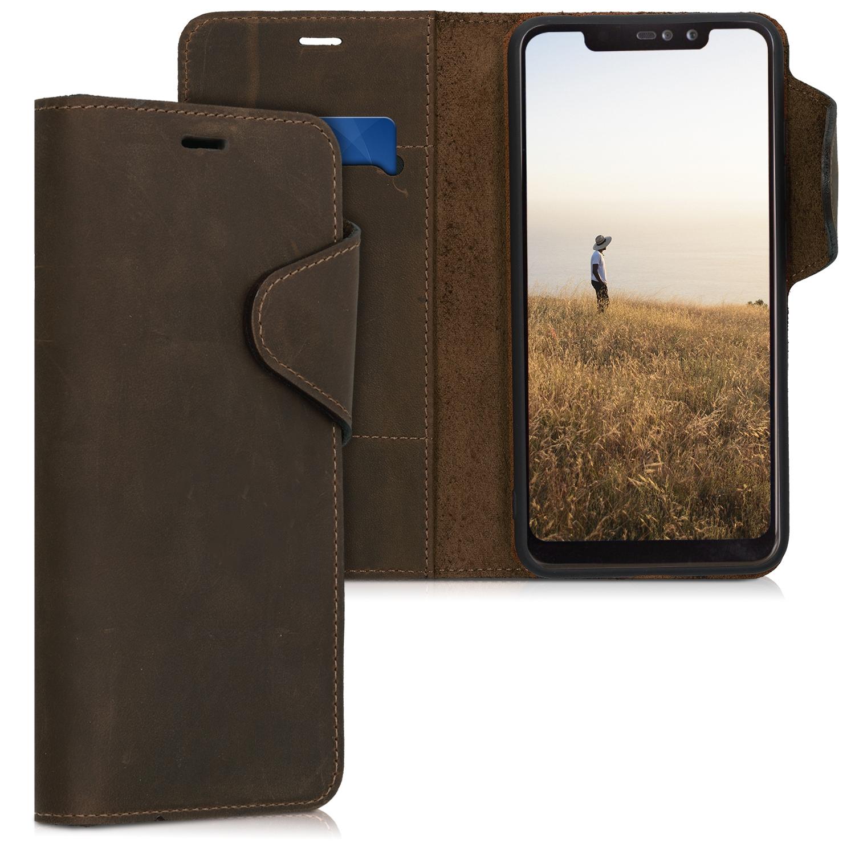 Kalibri Δερμάτινη Suede Θήκη - Πορτοφόλι Xiaomi Redmi Note 6 Pro - Brown (47627.05)