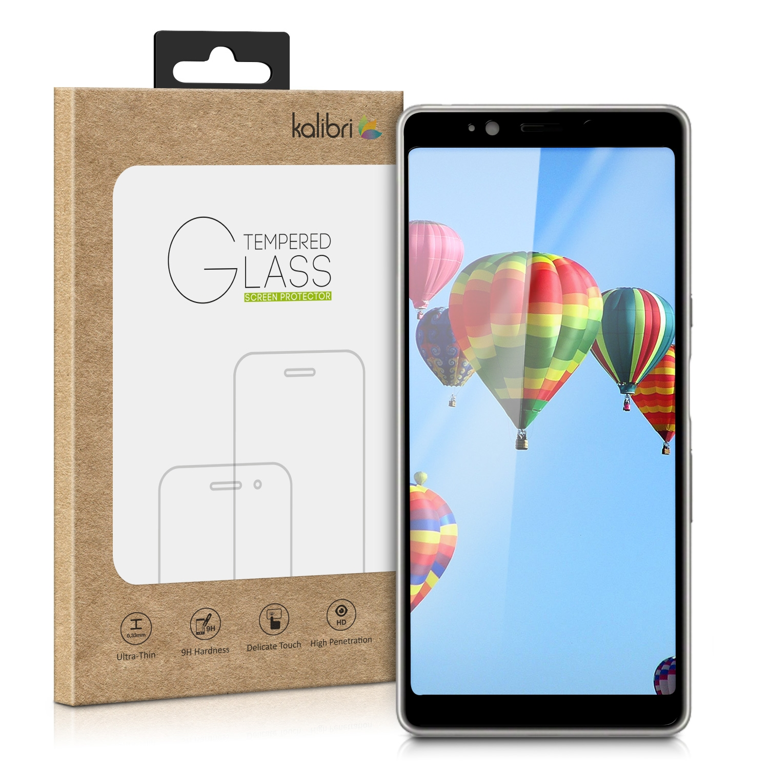 Kalibri Tempered Glass - Fullface Αντιχαρακτικό Γυαλί Οθόνης Sony Xperia L3 - Black Frame (47805.1)
