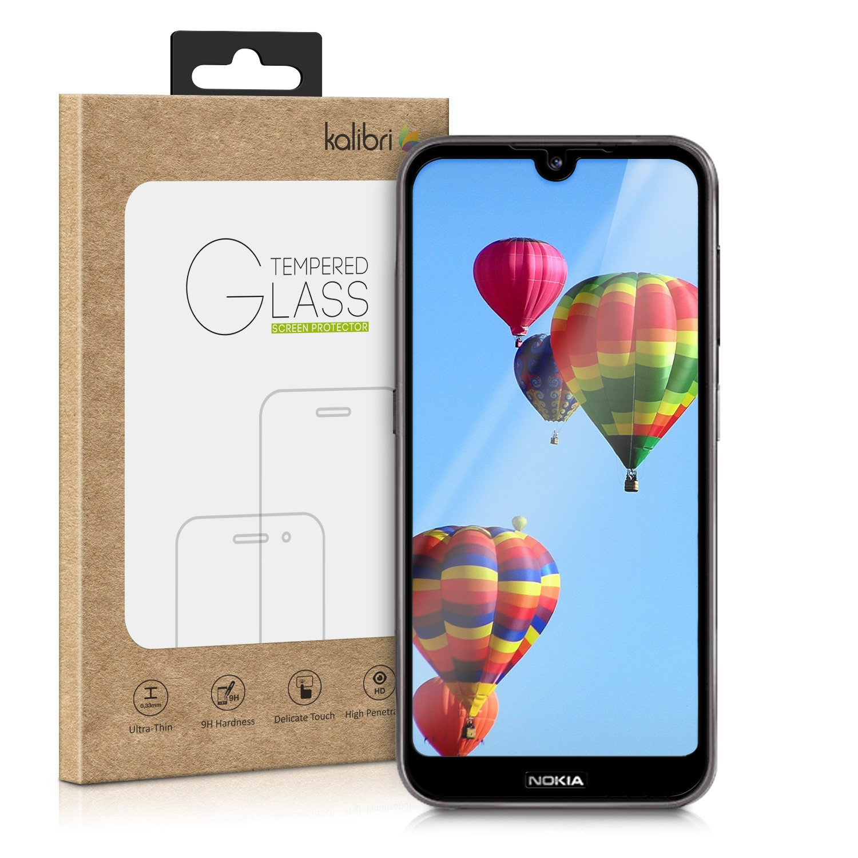 Kalibri Tempered Glass - Fullface Αντιχαρακτικό Γυαλί Οθόνης Nokia 4.2 (2019) - Black (48013.01)