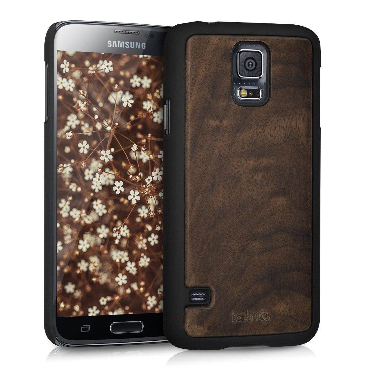 Kalibri Ξύλινη Θήκη Samsung Galaxy S5 / S5 Neo - Dark Brown (39054.18)