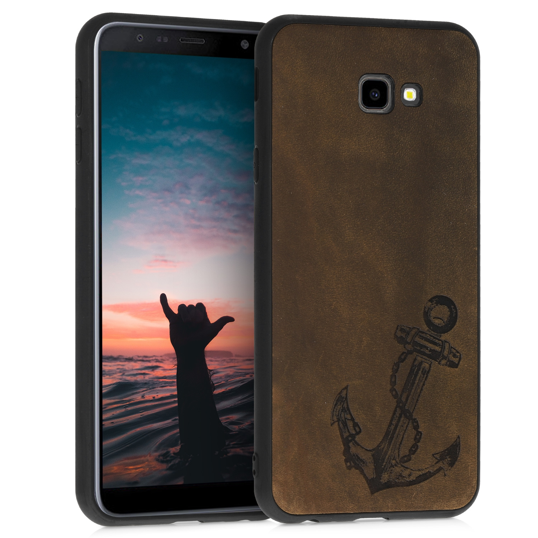 Kalibri Σκληρή Δερμάτινη Θήκη Samsung Galaxy J4+ / J4 Plus DUOS - Brown (48160.01)