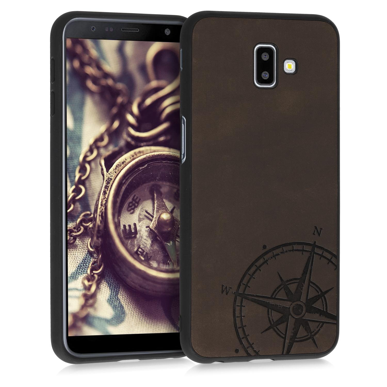 Kalibri Σκληρή Δερμάτινη Θήκη Samsung Galaxy J6 Plus DUOS - Brown (48098.01)