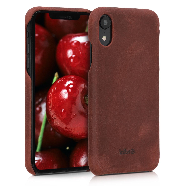Kalibri Σκληρή Δερμάτινη Θήκη iPhone XR - Bordeaux (45955.13)