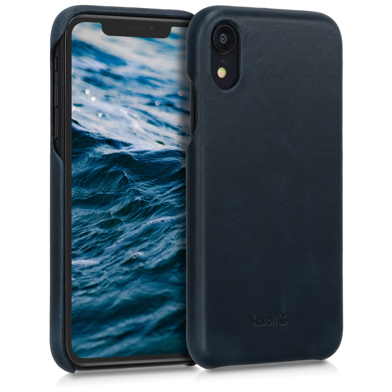 Kalibri Σκληρή Δερμάτινη Θήκη iPhone XR - Dark Blue (45955.17)