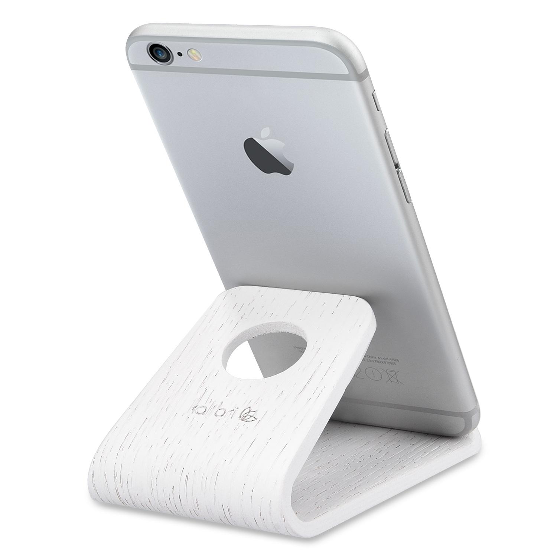 Kalibri Universal Wooden Stand - Ξύλινη Βάση για iPhone / Android / Tablet / e-Reader - White Oak (34561.02)