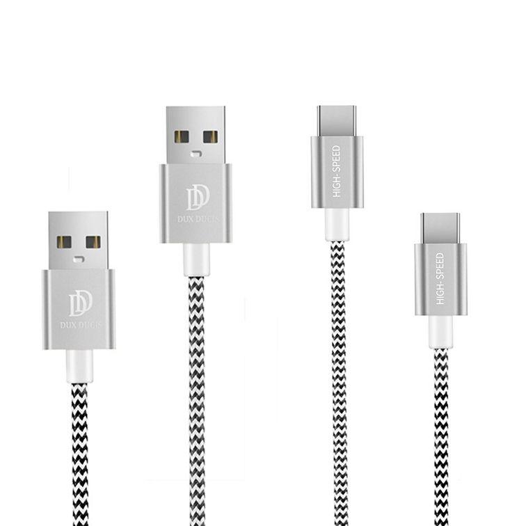 Duxducis Καλώδια Φόρτισης και Μεταφοράς Δεδομένων USB σε Type-C 100cm + 20cm (2  αξεσουάρ κινητών