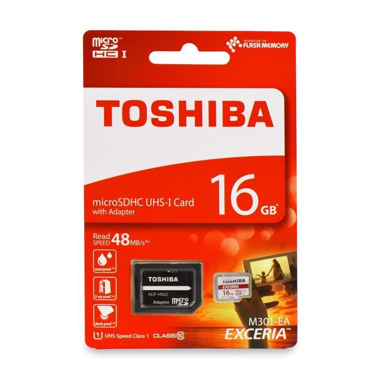 Κάρτα Μνήμης microSD 16GB Toshiba SD-C016UHS1(6A) Class 10