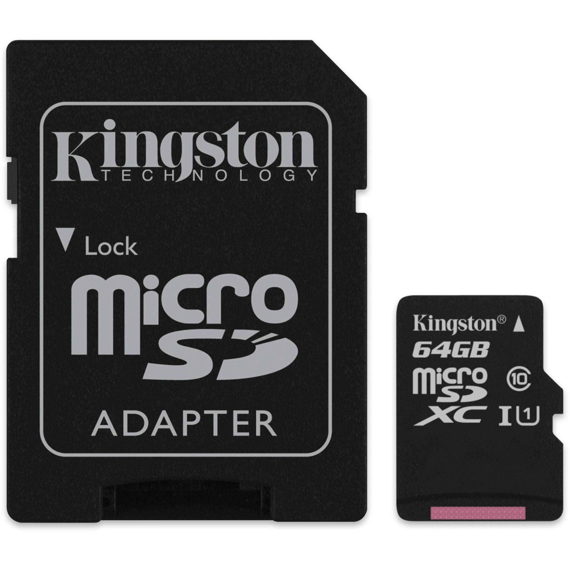 Kingston Κάρτα Μνήμης microSD 64GB - Class 10 (SDC10/64GB)