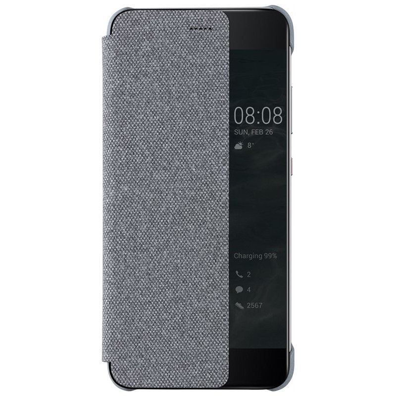 Huawei Official Smart View Flip Cover - Θήκη Huawei P10 Plus - Grey (51991877)