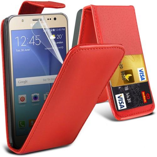 Flip Θήκη Samsung Galaxy J5 (2016) (7835) - Κόκκινο - OEM