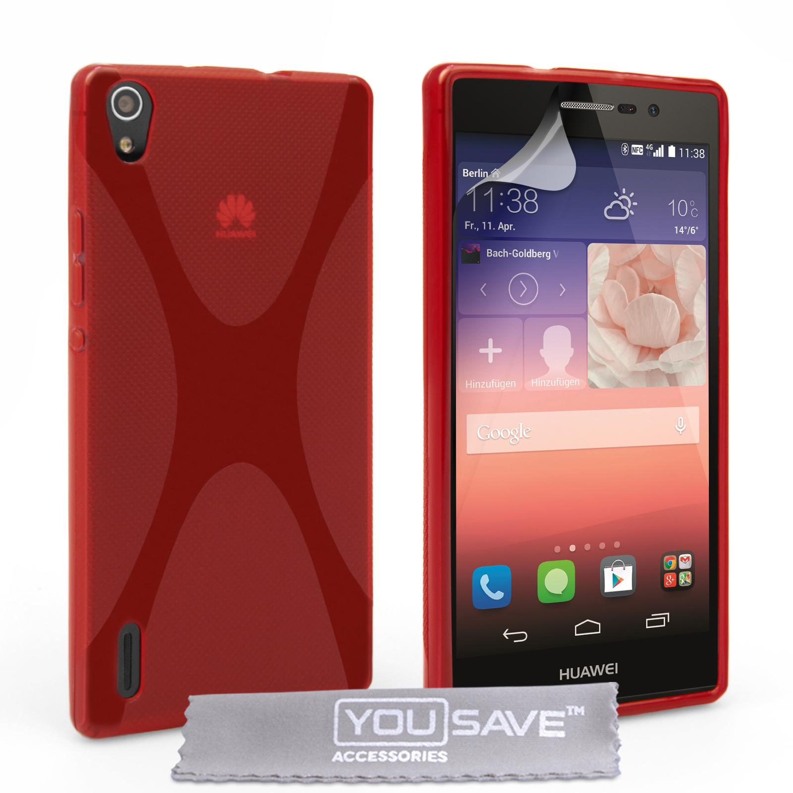 Ημιδιάφανη Θήκη Huawei Ascend P7 by YouSave (Z850)