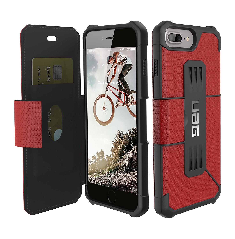 UAG Θήκη - Πορτοφόλι Metropolis Rugged iPhone 8 Plus / iPhone 7 Plus - Magma Red (IPH7/6SPLS-E-MG)