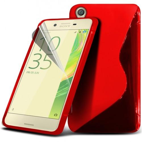 Θήκη S-Line Sony Xperia X (8945) Κόκκινο - OEM