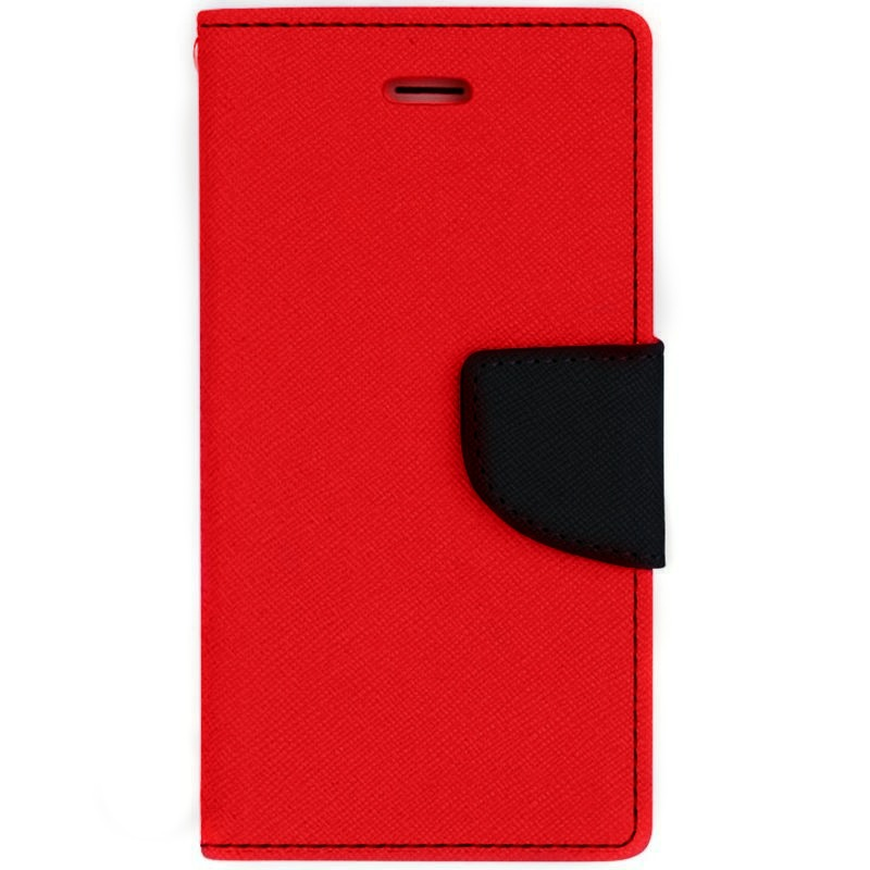Θήκη Fancy Diary  Xiaomi Redmi Note 4X / Redmi Note 4 (Snapdragon Global Version)  - Πορτοφόλι (9382) - Κόκκινο/Μπλε - OEM