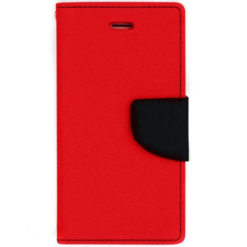 Θήκη Fancy Diary Alcatel Idol 4s - Πορτοφόλι (9391) - Κόκκινο/Μπλέ- OEM θήκες κινητών