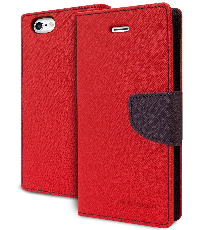 Mercury Θήκη iPhone 8 / 7 - Πορτοφόλι (9714) - Κόκκινο