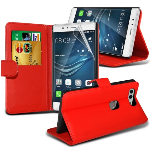 Θήκη Huawei P9 Plus - Πορτοφόλι (8825) Κόκκινο - OEM