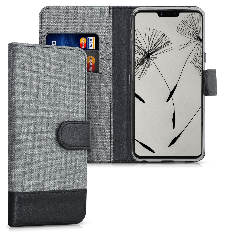 KW Θήκη - Πορτοφόλι LG G8 ThinQ - Grey / Black (47586.22)