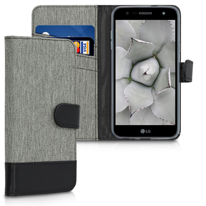 KW Θήκη Πορτοφόλι LG X power 3 - Grey / Black (47567.22)