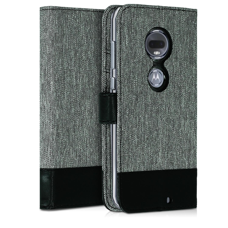 KW Θήκη - Πορτοφόλι Motorola Moto G7 - Grey / Black (47487.01)