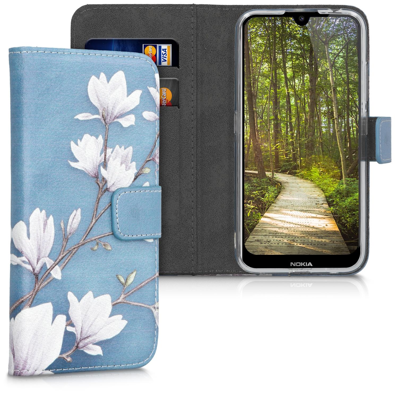 KW Θήκη - Πορτοφόλι Nokia 2.2 - Συνθετικό Δέρμα - Taupe / White / Blue Grey (49457.01)