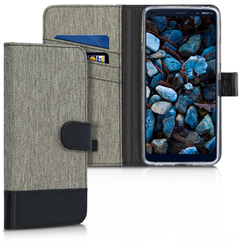 KW Θήκη- Πορτοφόλι Nokia 9 Pure View - Grey / Black (48026.01)