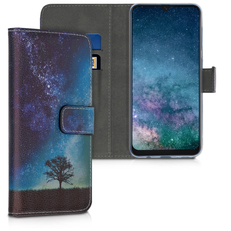 KW Θήκη - Πορτοφόλι Samsung Galaxy A50 - Blue / Grey / Black (48062.02)