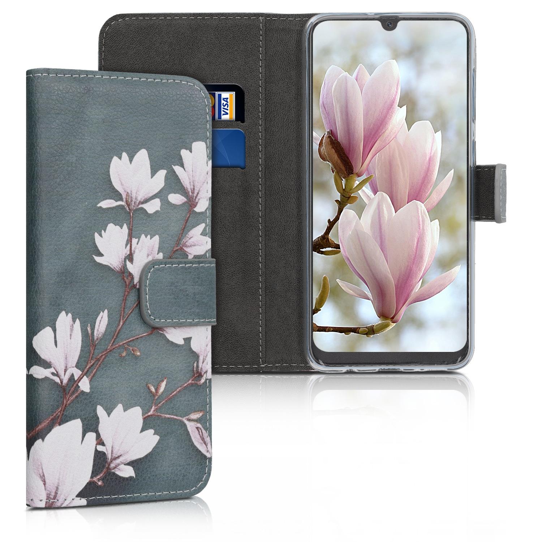 KW Θήκη Πορτοφόλι Samsung Galaxy A50 - Taupe / White / Blue Grey (48062.03)