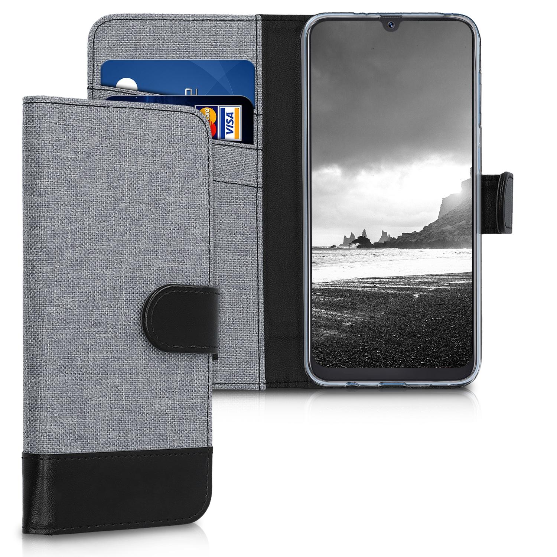 KW Θήκη Πορτοφόλι Samsung Galaxy A50 - Grey / Black (48064.22)