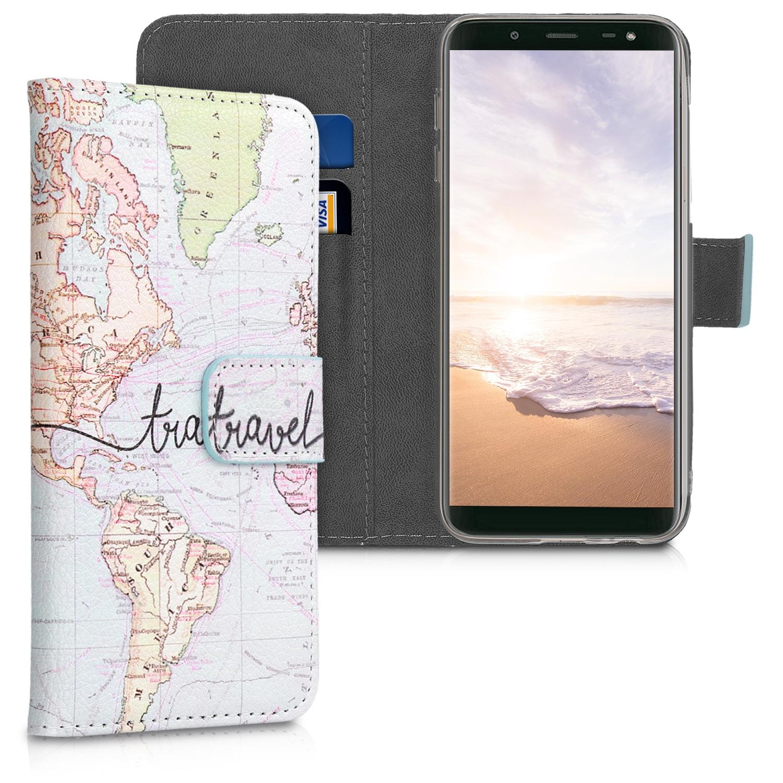 KW Θήκη - Πορτοφόλι Samsung Galaxy J6 - Black / Multicolor (45802.05)