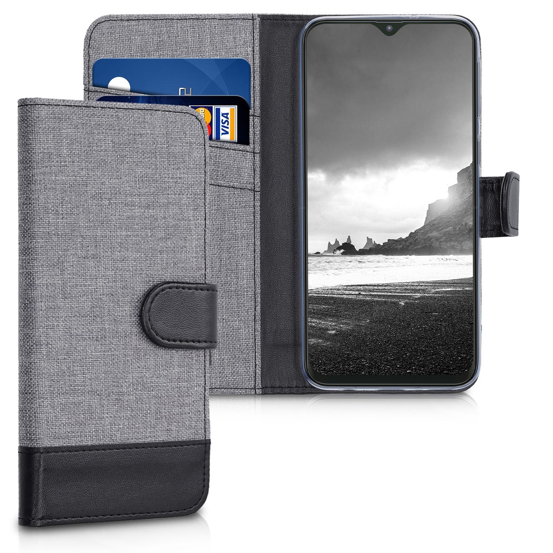 KW Θήκη Πορτοφόλι Samsung Galaxy M20 (2019) - Grey / Black (48319.22)