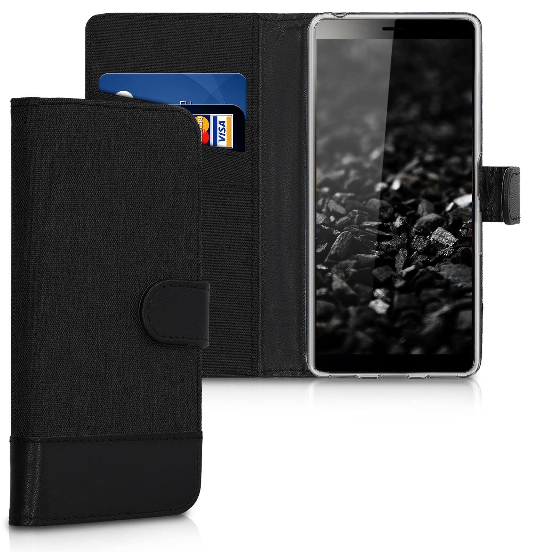 KW Θήκη Πορτοφόλι Sony Xperia L3 - Anthracite / Black  (47803.73)