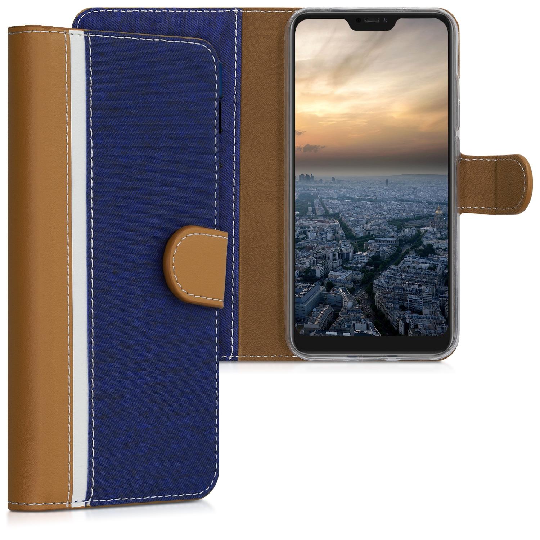 ΚW Θήκη Πορτοφόλι  Xiaomi Redmi 6 Pro / Mi A2 Lite - Blue/ Brown (48269.01)