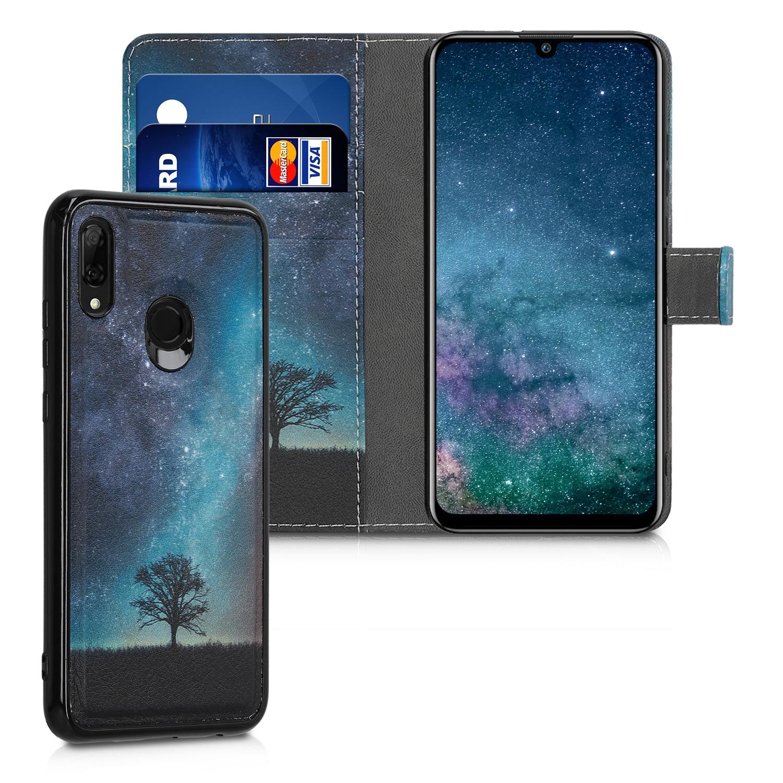 KW Θήκη - Πορτοφόλι Huawei P Smart 2019 - Cosmic Nature, Blue / Grey / Black - (48421.02)