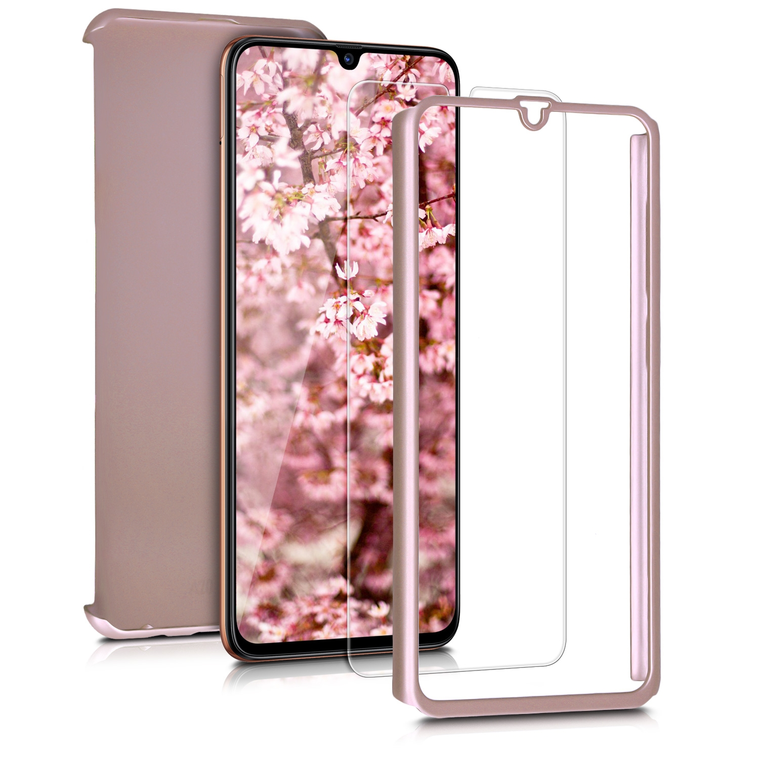 KW Θήκη Full Body Samsung Galaxy A70 & Tempered Glass - Metallic Rose Gold (48429.31)