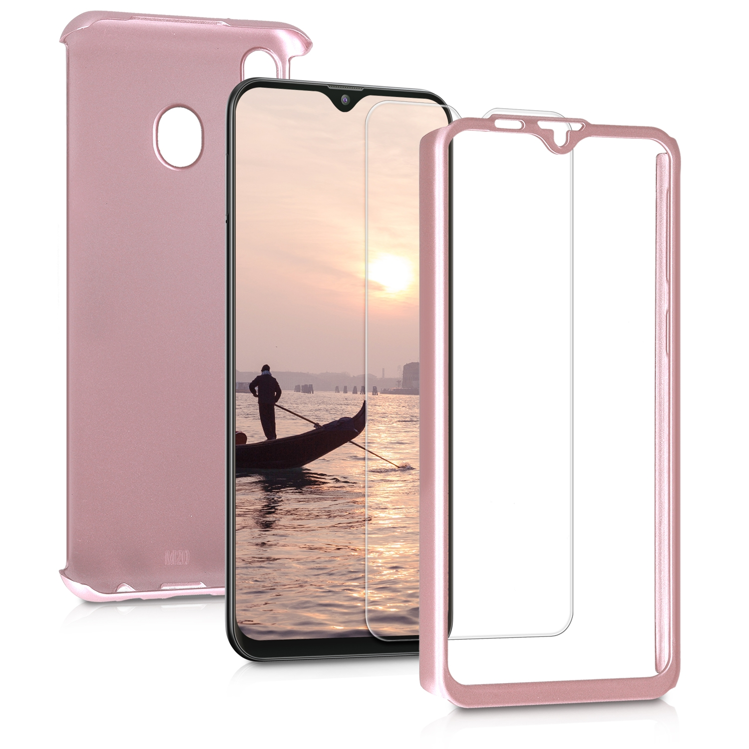 KW Θήκη Full Body Samsung Galaxy M20 (2019) & Tempered Glass - Metallic Rose Gold (48314.31)