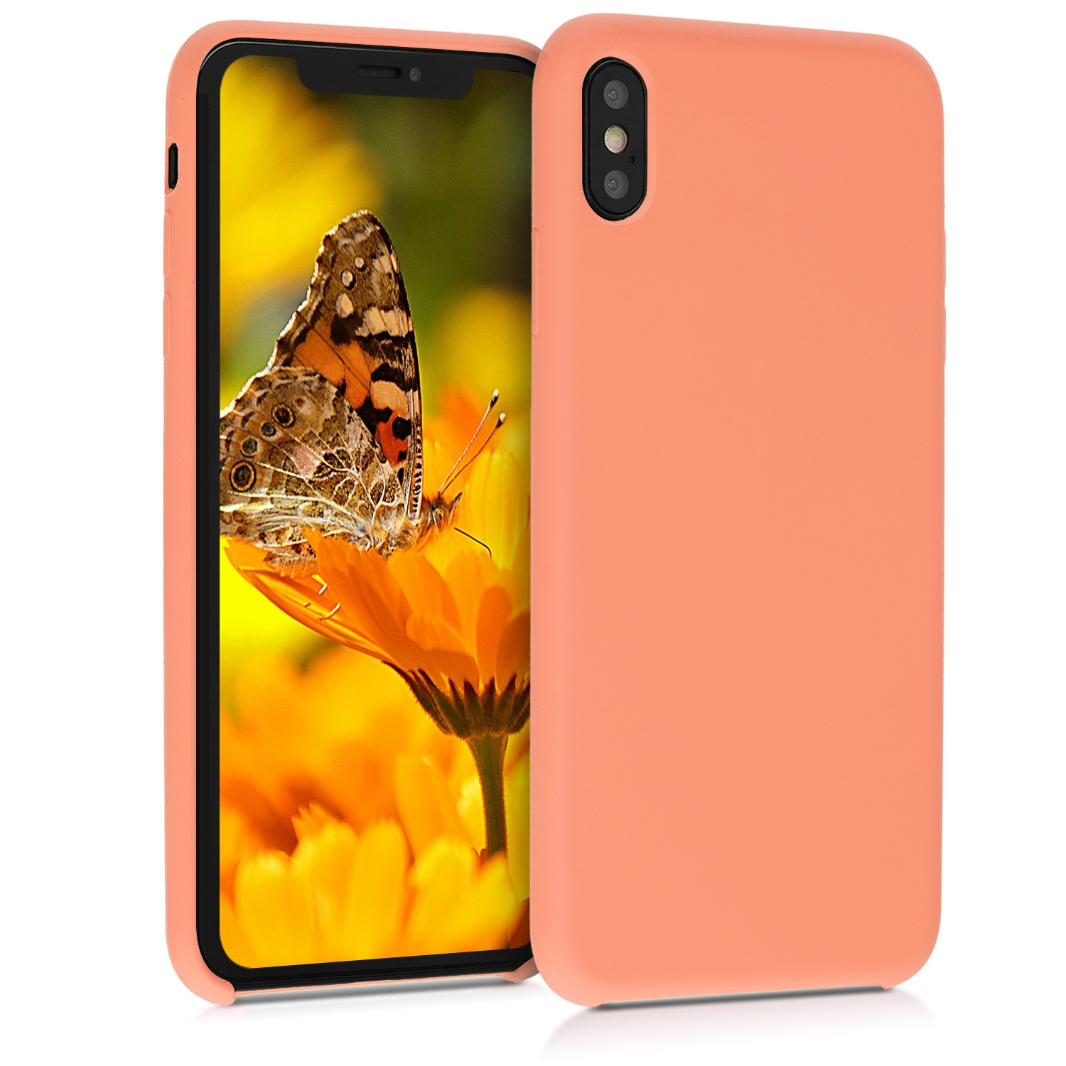 KW Θήκη Σιλικόνης iPhone XS Max - Soft Flexible Rubber Protective Cover - Papaya (45909.144)