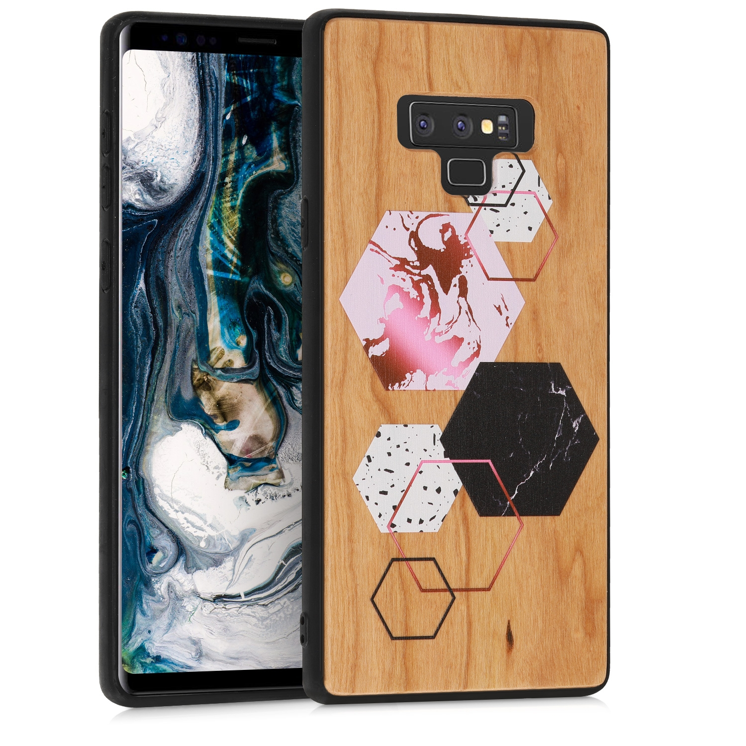 KW Σκληρή Ξύλινη Θήκη Samsung Galaxy Note 9 - Honeycomb cherrywood (47350.03)