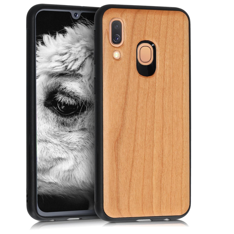 KW Σκληρή Ξύλινη Θήκη - Samsung Galaxy A40 - Dark Brown (48551.18)
