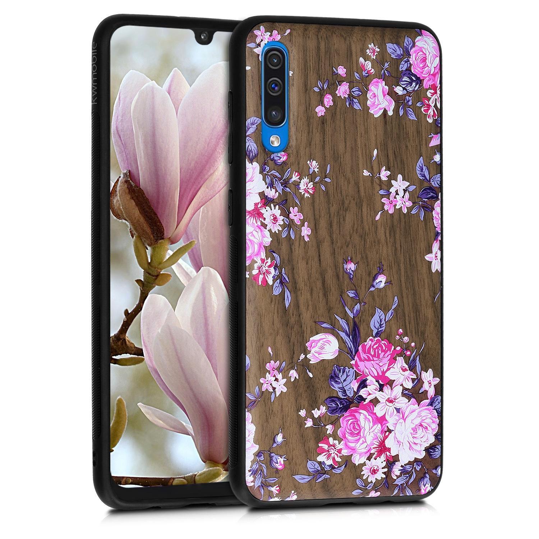 KW Σκληρή Ξύλινη Θήκη Samsung Galaxy A50 - Wood Flowers Cherrywood (48177.02)