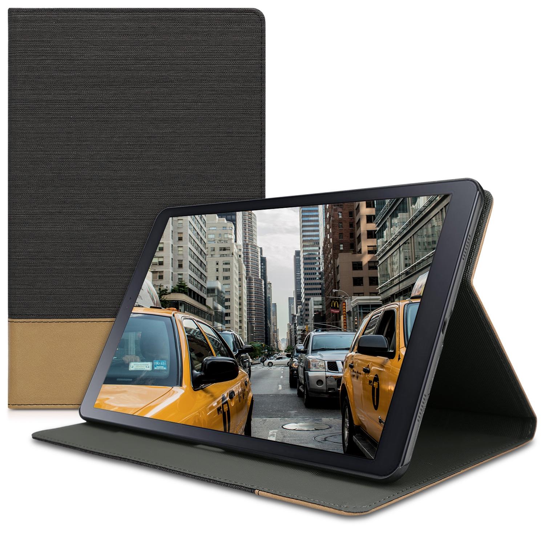 KW Θήκη Πορτοφόλι Samsung Galaxy Tab A 10.5 - Black / Brown (46007.02)
