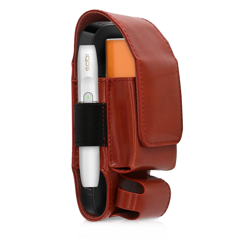 KW 3 in 1 Θήκη PU Leather για IQOS 2.4 / 2.4 Plus Starter Kit - Dark Red (43831.20)