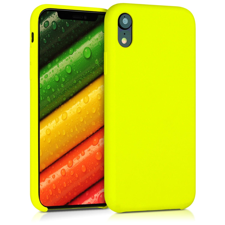 KW Θήκη Σιλικόνης Apple iPhone XR - Soft Flexible Rubber Protective Cover - Lemon Yellow (45910.149)
