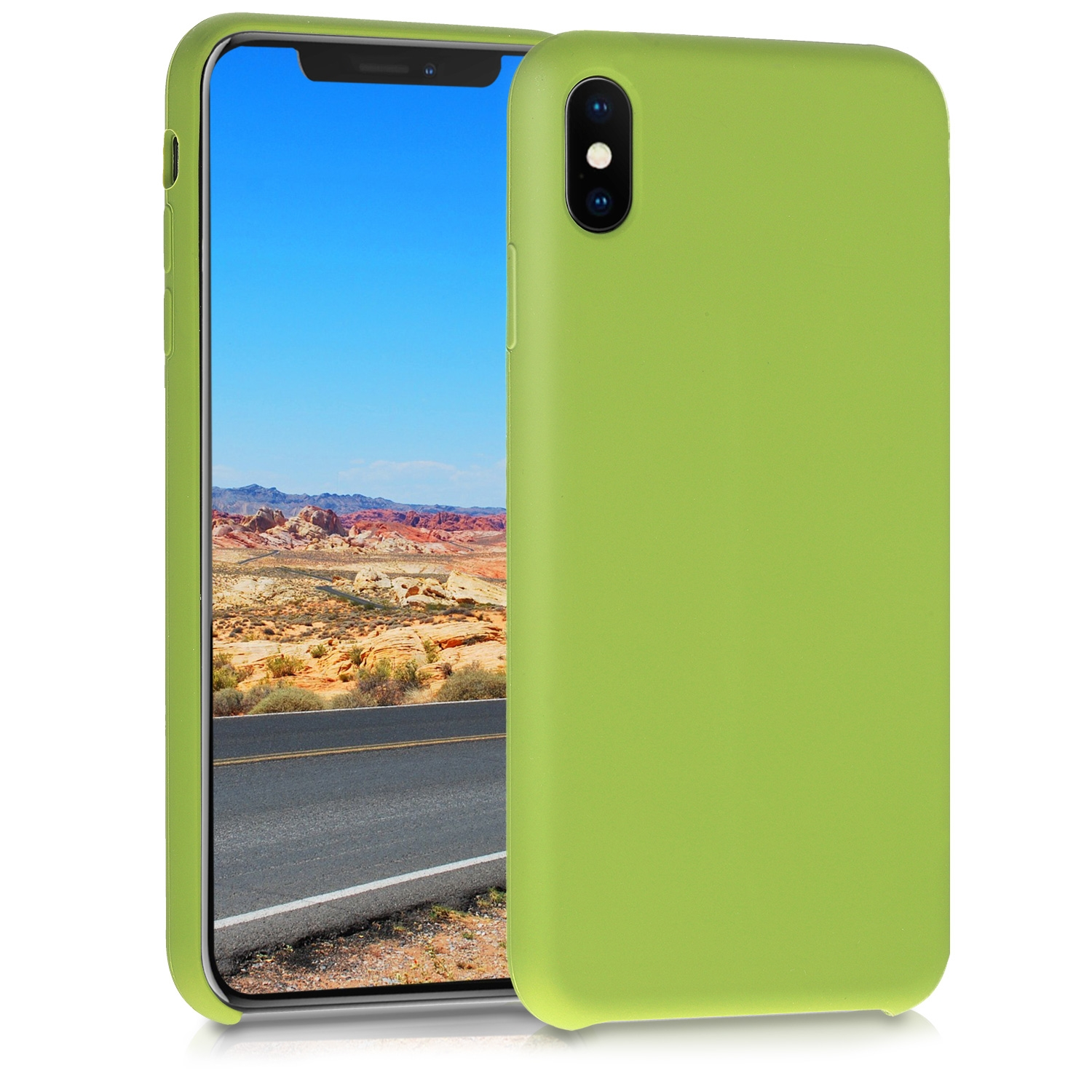 KW Θήκη Σιλικόνης Apple iPhone XS Max - Soft Flexible Rubber Protective Cover - Pale Olive Green (45909.148)