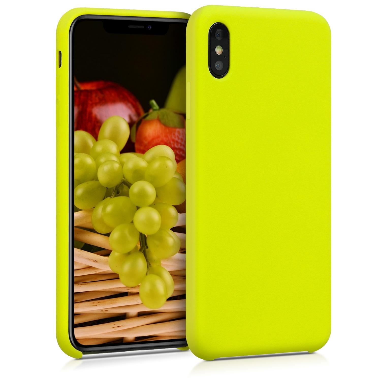 KW Θήκη Σιλικόνης Apple iPhone XS Max - Soft Flexible Rubber - Lemon Yellow (45909.149)
